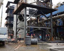 某化工厂湿式静电除尘器安装